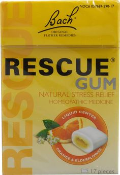 Bach Flower Remedies Rescue Gum Natural Stress Relief