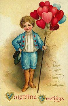 Free Vintage Valentine Cards: Cute Kids