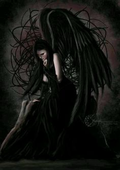 Dark Fallen Goth Gothic Angel Fantasy Angels
