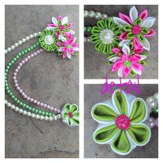 Headpiece kanzashi  #headpiece #headpin #handmade #kireiicraft #kanzashi #flower