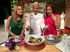 Orzo con Caderas y Tomate deshidratado saludable para una cena en familia. Receta creada por Chef Marilyn López #UnaBuenaTarde #ChefMarilyn
