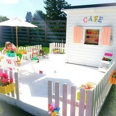 OUTDOOR PLAYHOUSES | Mommo Design #outdoorplayhouse