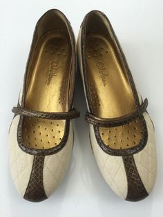 Cole Haan Vegan Womens Shoes Size 7.5 B Nike Air Brown White Mary Janes New #ColeHaan #LoafersMoccasins #Casual