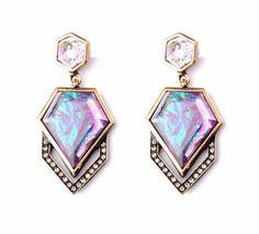 Hot Trend Fashion Jewelry Geometric Pink Gemstone Statement Stud Drop Earrings   eBay