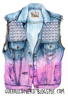 Definitely want a denim vest like this... but if they made a full length jacket i would want it even more.