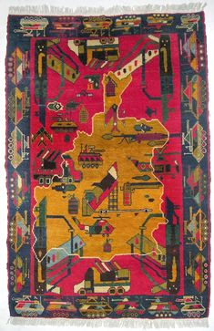From Combat to Carpet—The Strange Story of Afghan War Rugs By Stephanie Strasnick Posted 04/29/14 Afghanistan's women weavers have transformed traditional textiles into amazing and complex icons of war, change, and modernity