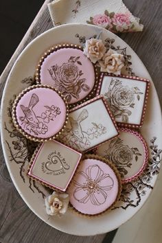 Vintage Transferware Cookies. Food should be a feast for the eyes as well as the palette!