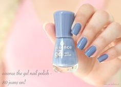 essence the gel nail polish - 80 jeans on!