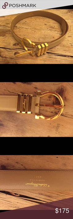 Salvatore Ferragamo Beige Belt worn only a couple of times, like new, gorgeous! Fashion Design, Fashion Tips, Fashion Trends, Cartier, Salvatore Ferragamo, Belts, Dior, Wedding Rings, Couple
