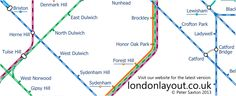 South London section of London Layout map. Crofton Park, Honor Oak Park, Forest Hill, South London, Maps, Layout, Blue Prints, Page Layout, Map