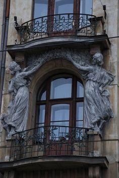 Балкон в Праге / Art Nouveau balcony Prague