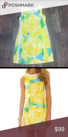 Lilly Pulitzer Shift in Yellow First Impressions Size 4. Excellent used condition. Lilly Pulitzer Dresses Mini