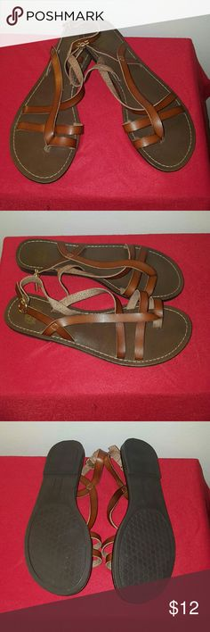 Faded Glory Sandals Only worn once brown Faded Glory Sandals. Faded Glory Shoes Sandals