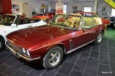 1974 Jensen Interceptor S4 Cabrio - The most luxurious of the Jensen cars was this S4 version of the Interceptor Mark III series. Of all the 6.400 Interceptors made only 267 was the convertible version which make this quite a rare car. It has the Chrysler V8 440 cubic inches (7.2 liter) 'Big Block' engine coupled to the TorqueFlite automatic transmission.