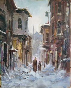 турецкая живопись: 15 тыс изображений найдено в Яндекс.Картинках City Painting, Winter Painting, Winter Art, Watercolour Painting, Painting & Drawing, Mary Cassatt, Sans Art, Camille Pissarro, Turkey Art