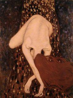 Gustav Klimt Xi Pan - Floating Nude