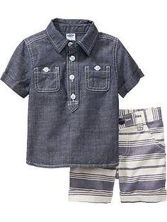 Chambray Shirt & Shorts Sets for Baby | Old Navy