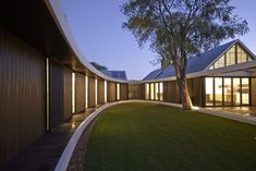 """enochliew: """"The Subiaco Oval Courtyard by Luigi Rosselli The enclosed elliptical garden is an outdoor room central to all the rooms and activities of the house. """""""