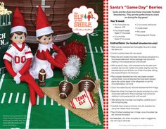 """Football season is still in full swing here at the North Pole! Today, Mrs. Claus came up with the perfect post-game snack: Santa's """"Game Day"""" Berries! Make some with YOUR family today!"""