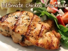 Perfect for Weight Watchers, this simple marinade perks up grilled chicken with ingredients you most likely have on hand! This is my family's favorite way to grill chicken breasts!