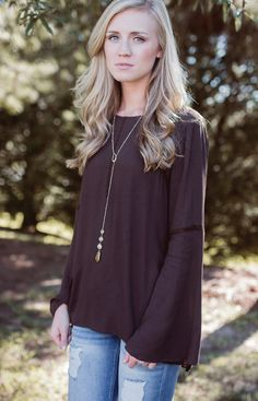 Shop Lizard Thicket - American Honey Top in Brown, $36.50 (http://www.shoplizardthicket.com/american-honey-top-in-brown/)