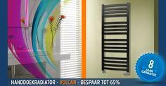 Handdoekradiator - De VULCAN past in elke badkamer of keuken met zijn stijlvolle openingen, ontworpen voor meerdere handdoeken.