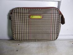 a7c5c564b3 Polo Ralph Lauren Cosmetics Toiletry Bag Pouch Tweed Look Leather Feel   PoloRalphLauren  ToiletryBag Toiletry