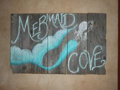Mermaid Cove sign Hand Painted Original by tawnystreasures on Etsy