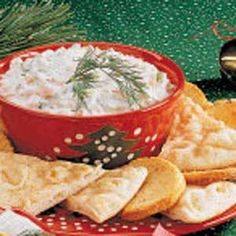 Summer Party Dip. Serve with snack toast and/or pita bread or veggies. Makes 3 cups.     1 carton (8 ounces) fat-free spreadable cream cheese     1/2 cup finely chopped green pepper     2 celery ribs, finely chopped     2 medium carrots, finely chopped     6 radishes, finely chopped     4 teaspoons finely chopped onion     1 teaspoon dill weed