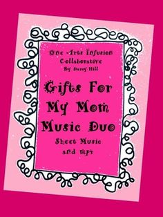 "In this music duo set you will find the following 2 items:Sheet Music to the original song, ""Gifts For My Mom""mp4 file to rehearse singing ""Gifts For My Mom""Let your Mother's Day gift to your mommy this year be a song. The gentle tune and precious message of this new song, Gifts For My Mom,"" will deeply bless each mother's heart."