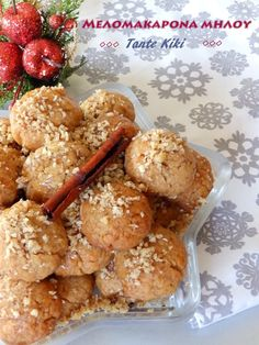 Greek Sweets, Greek Desserts, Greek Recipes, Xmas Food, Biscuits, Dessert Recipes, Cookies, Breakfast, Ethnic Recipes