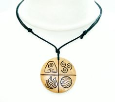 £6.99 Shie Worldwide. Four Elements Large Necklace Earth Air Fire by IntheWitchwood