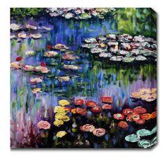 <li>Artist: Claude Monet</li><li>Title: Water Lilies</li><li>Product type: Gallery-wrapped canvas art</li>