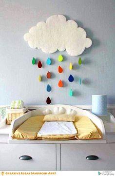 décoration chambre bébé nuage – Hobbies paining body for kids and adult Toy Rooms, Kids Rooms, Cute Diys, Nursery Inspiration, Nursery Ideas, Nursery Art, Diy Wall Art, 3d Wall, Diy Baby