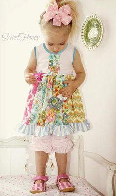 SweetHoney Colorful Knit Dress SweetHoney little girls dress Facebook sales Monday and Wednesday night Facebook.com/sweethoneyclothing