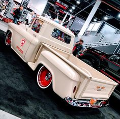 1955 or 1956 Chevy truck with Detroit Steel Wheels