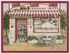 Hamburger Haven by Janet Kruskamp in PDF format.  All my patterns are created using a combination of computer and hand correction and are designed