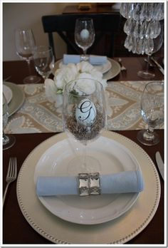 Easter table decor...so pretty.// same table, different view. Still love.