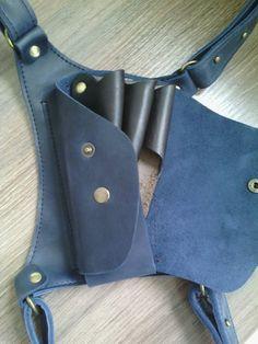 Bag for hairdressing tools. Scissors Case.Handmade Leather Helmet Style  Shear Holster for Professional Hairdresser dc4fca44e988