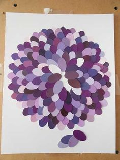 DIY decoupage project with paint chips creates a beautiful design for your wall | Storypiece.net