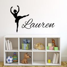Dancer with Personalized Name Wall Decal | Wall Decal World
