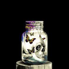 Sink or Swim, nautical skull Ceramic Tile Skull Carpet, Sink Or Swim, Decorating Your Home, Nautical, Mason Jars, Tiles, Ceramics, Blue, Design