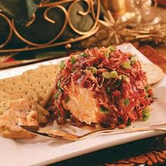 Chutney-Bacon Cheese Ball Recipe -Your guests will love this tasty, ingredient-packed holiday cheese ball. Serve with crackers for a yummy appetizer.—Dena Gurley, Southaven, Mississippi