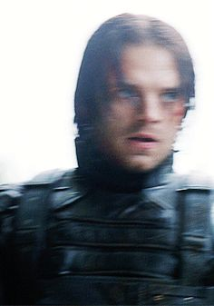 "Bucky Barnes -- ""What I love about this gif is that the wild, murderous look is finally gone from Bucky's eyes after he saves Steve."""