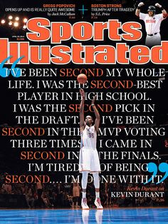 This Sports Illustrated cover with Durant.