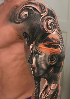 Egyptian sleeve #tattoo #tattoosmen'ssleeves