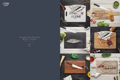 Cutting Board Many Types Mockup by dennysmockups on @creativemarket