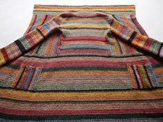 omⒶ KOPPA: Virkattu raidallinen villatakki - väriskaala kotikulmieni vanhoista taloista
