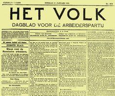 2 april 1900 Socialistisch dagblad 'Het Volk' verschijnt voor het eerst.