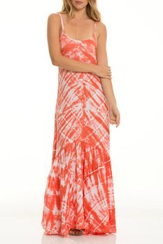 Tie dye lightweight maxi with low v back.    Maxi Tie Dye by Elan. Clothing - Dresses - Maxi Clothing - Dresses - Printed Arizona